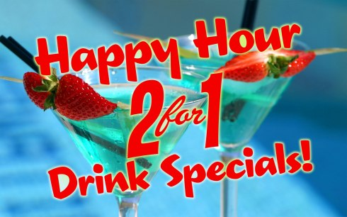 2 for 1 Drink Specials